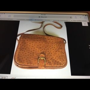 Authentic Chloe Crossbody Flap Ostrich Leather